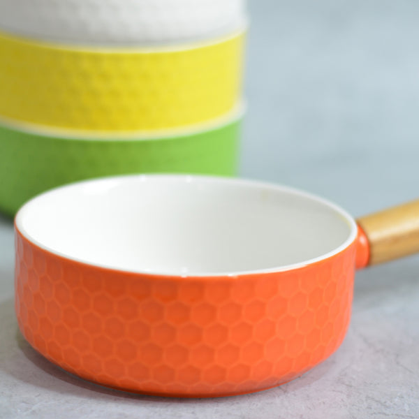 Orange Bowl with Handle