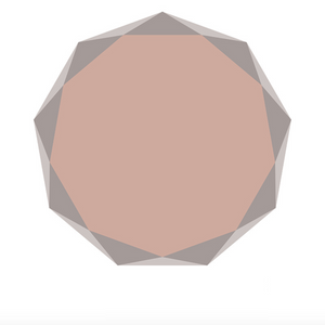 POLYGON round rug (L) - Old Rose Pink