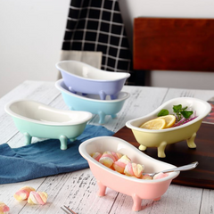 Pink Tub Ceramic Snack Bowl