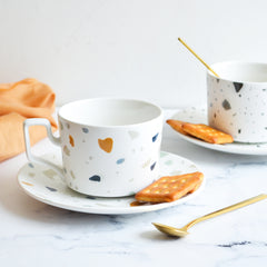Terrazzo Cup and Saucer