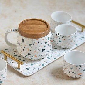 Terrazzo Tea Set With Tray