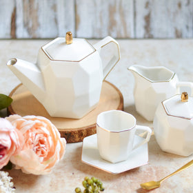 Modern Tea Set White