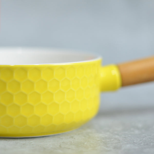 Yellow Bowl with Handle