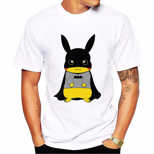 T-shirt Pikachu-Batman Pokémon Super Heros