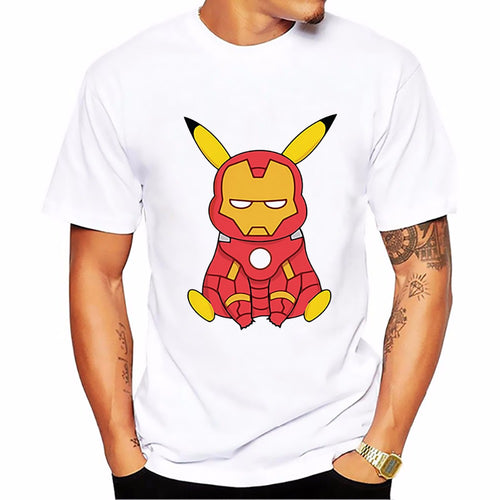 T-shirt Pikachu-Iron Man Pokémon Super Heros