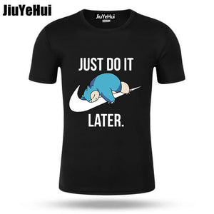 T-shirt Pokémon Ronflex Just Do It Later
