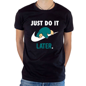 T-shirt Ronflex Just Do It Later Nike parodie