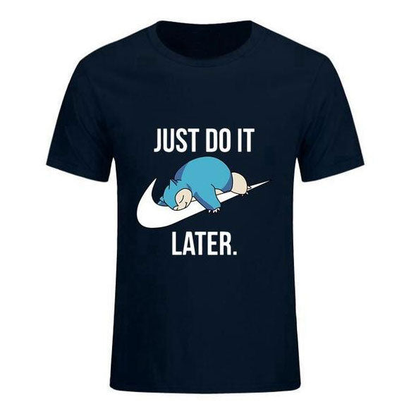 T-shirt Just do it later (Ronflex)