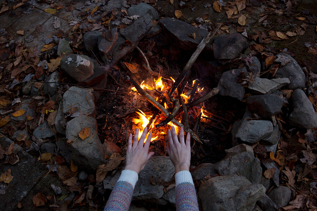 keep your hands warm on a cold weather camping trip