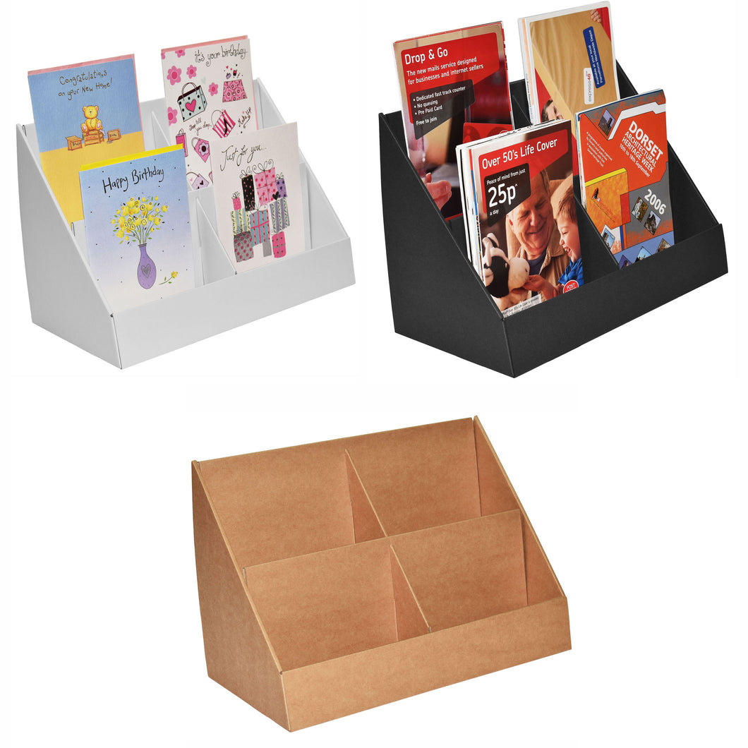 Cardboard display stand for A5 leaflets and greeting Cards
