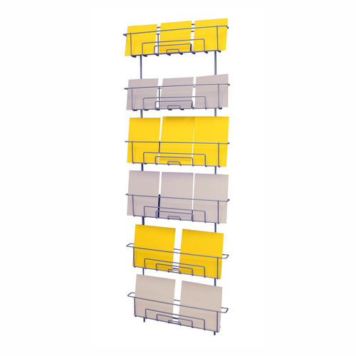 Wall rack for mixed sized products