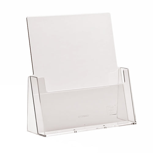 Counter top dispenser for A4 leaflets in portrait display