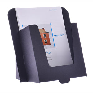Cardboard A5 leaflet dispenser in black