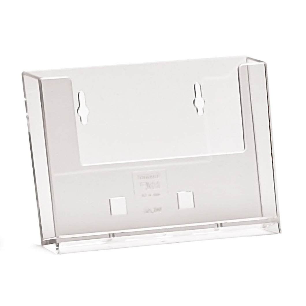 A6 Landscape Leaflet Dispenser for Wall Mounting