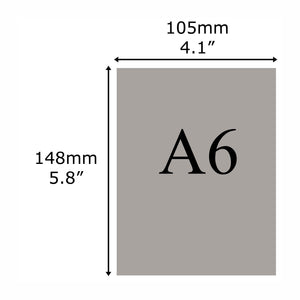 A6 leaflet size guide