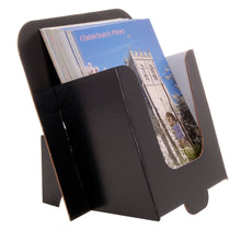 6x4 postcard dispenser in black cardboard