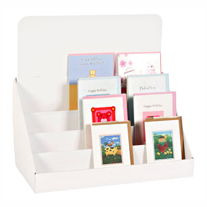 White Cardboard Greeting Card Stand