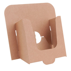 A6 leaflet dispenser in brown cardboard