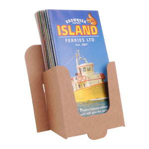 Brown cardboard DL leaflet dispenser