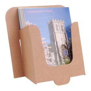 6x4 postcard dispenser in brown cardboard