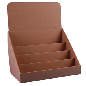 Brown cardboard display stand for A5 and A6 cards