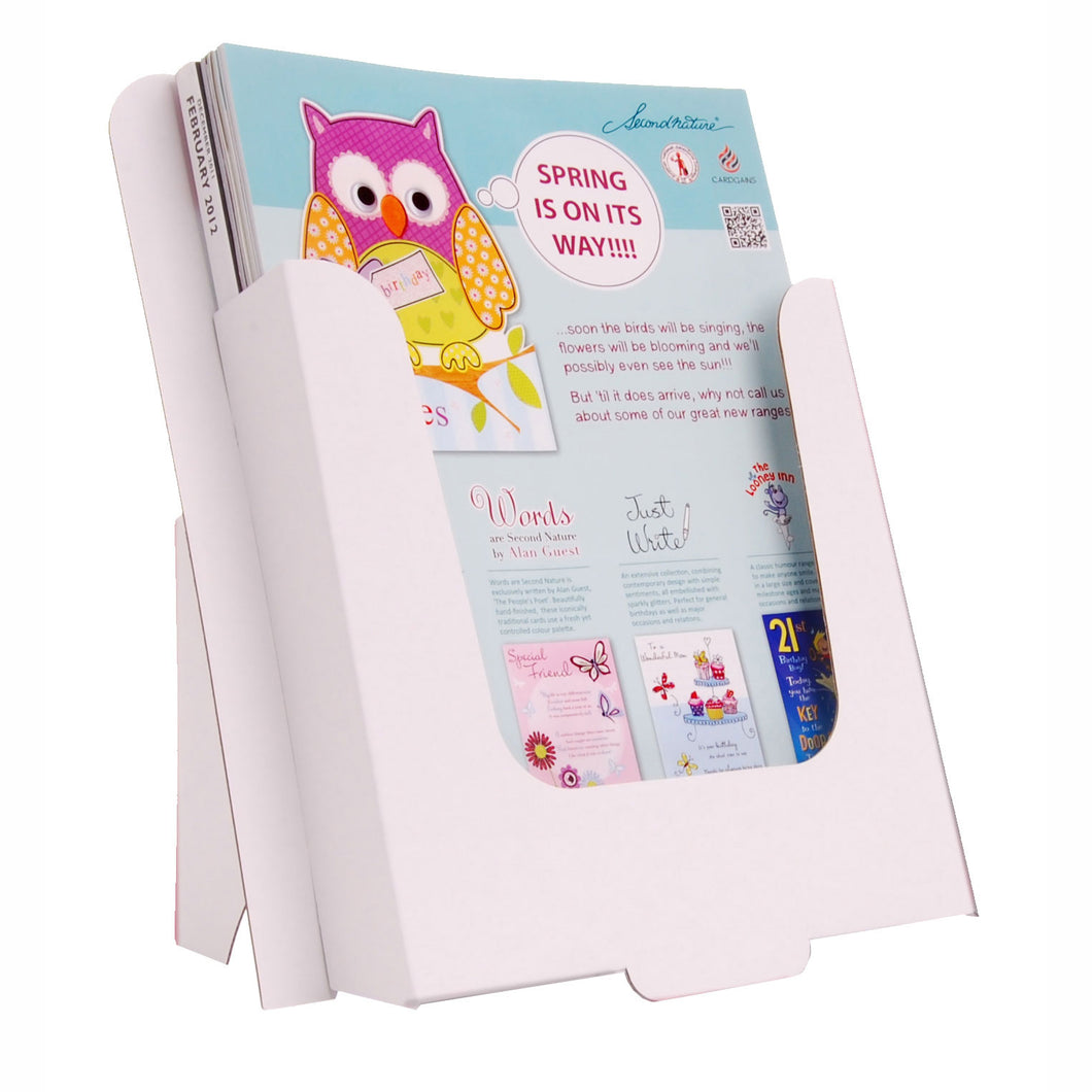 Cardboard dispenser for A4 leaflets and brochures