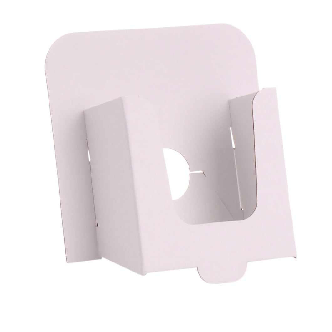 A6 leaflet dispenser in white cardboard