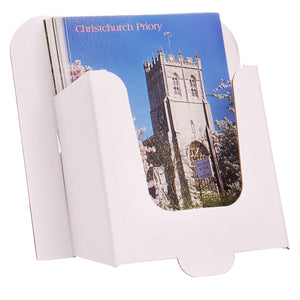 6x4 postcard dispenser in white