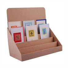 Brown Cardboard Greeting Card Stand