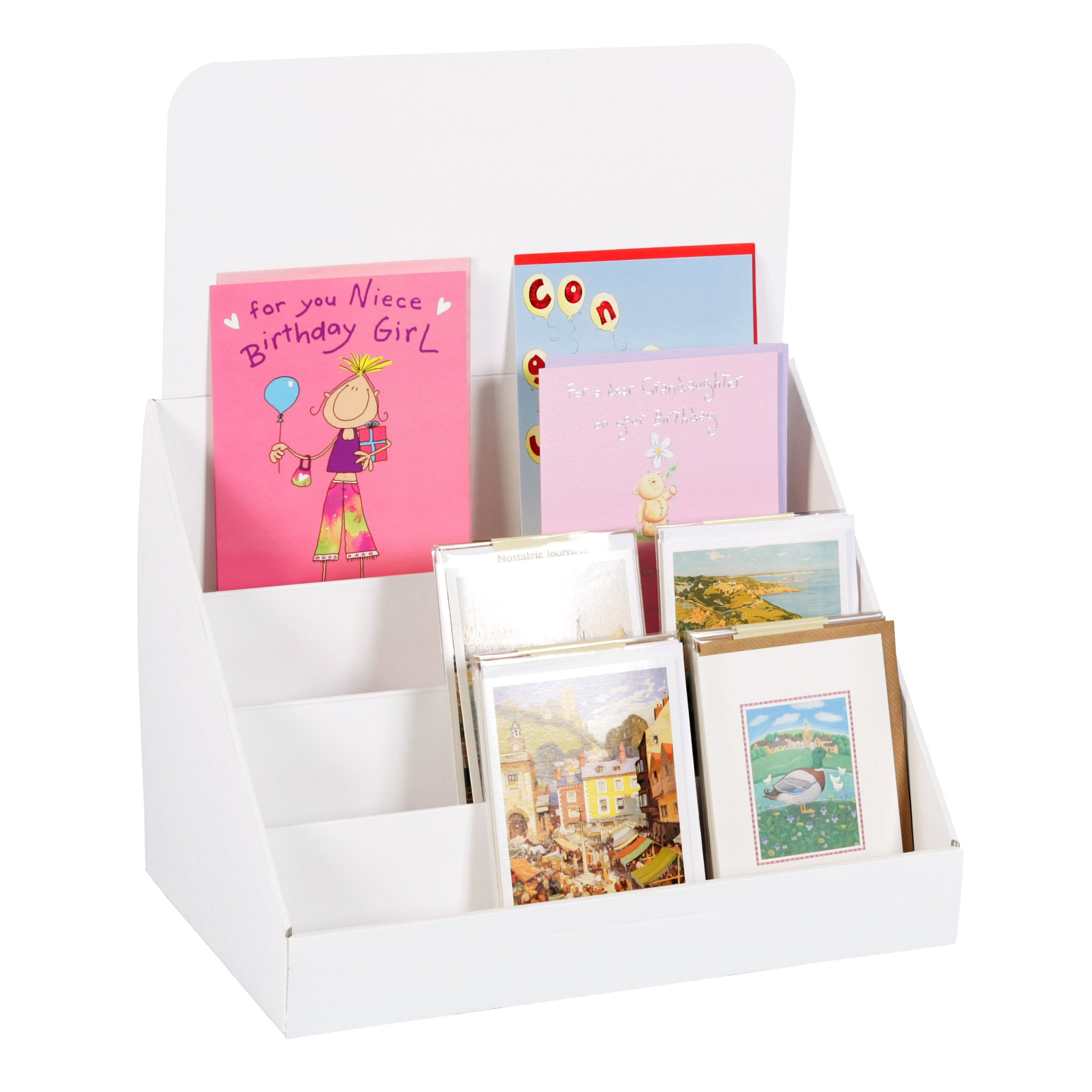 cardboard greeting card display stand for a5  a6 cards