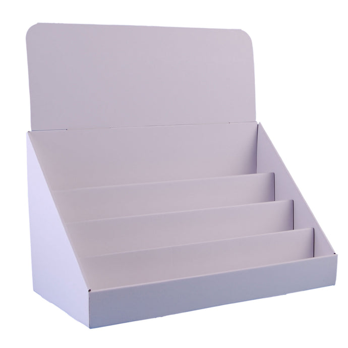 18 Inch 4 Tier Cardboard Counter Display Stand
