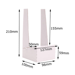 White cardboard display stand dimensions