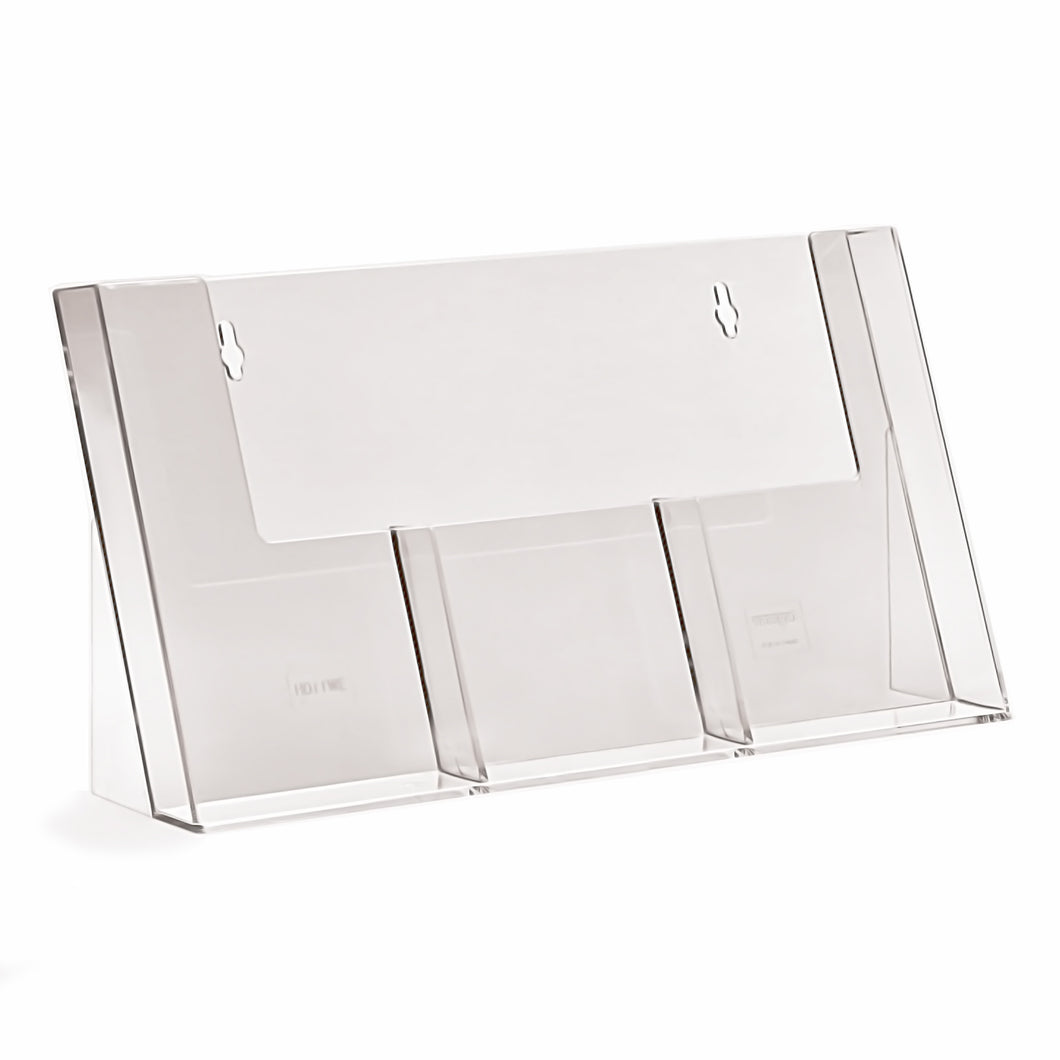3 Pocket Counter Display Stand for DL Leaflets