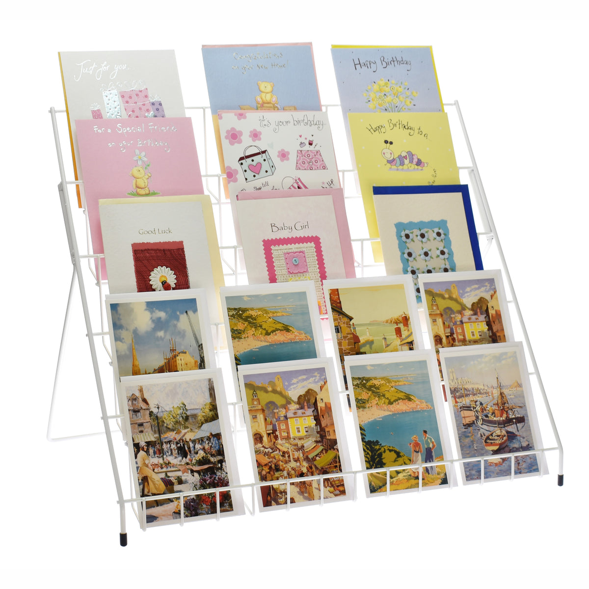 lightweight collapsible greeting card display stand in
