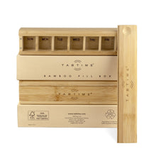 TabTime Bamboo Weekly Pill Box - the eco friendly pillbox - Tabtime Limited