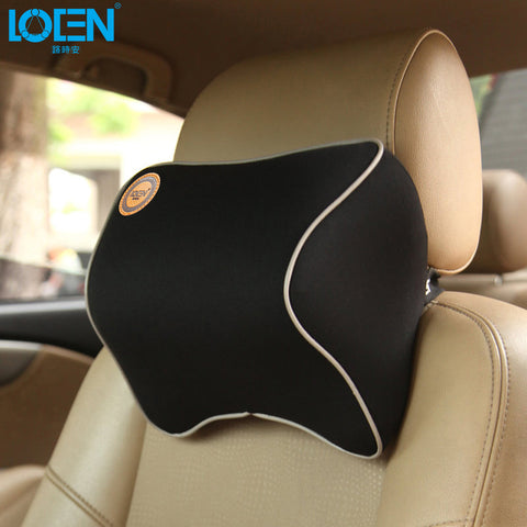 1 PCS Car Pillow  Foam Fabric Neck Headreste