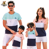 Family Clothing Outfits Fashion Striped Summer Short sleeve T-shirt Matching Family set For Mother Daughter And Father Son