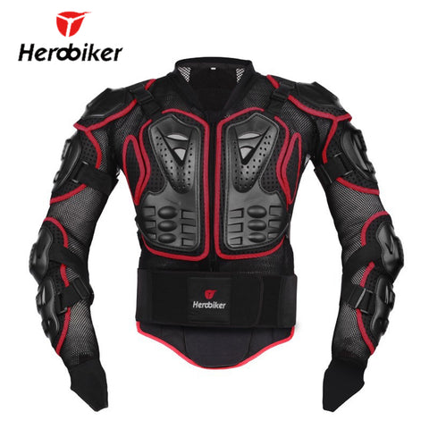 HEROBIKER Motorcycle Riding Armor Body Protector Motocross Off-Road Racing Jacket Guard Extreme Sport Protective Gear Accessory