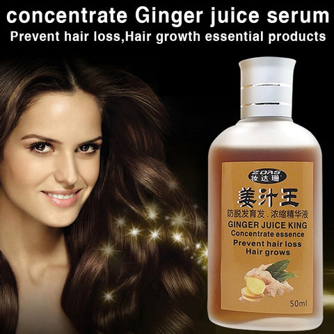 2pcs Ginger juice Hair Shampoo Set Anti-hair Loss Chinese Herbal Hair Growth Product Prevent Hair Treatment For Men & Women 50ml
