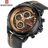 Luxury Brand NAVIFORCE Men's Sport Watches Men Leather Quartz Waterproof Date Clock Man Military Wrist Watch Relogio Masculino