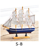 Small Wooden Sailing Ship Handmade Nautical Model Boat Home Decoration Crafts Gift living room Wooden ornaments
