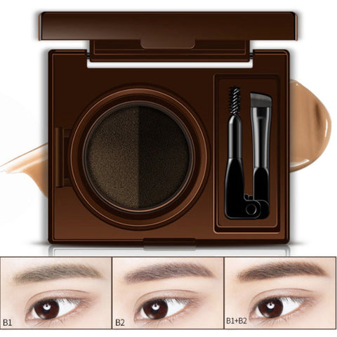 Professional long lasting Eye Brow Air Cushion Brow Pigment Tint Makeup Tool Eyebrow Pencil Brown Eyebrow Gel With Brow Brush