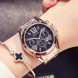 GIMTO 2018 Rose Gold Women Casual Watches Waterproof Calendar Unique Quartz Business Dress Watches for Female Luxury Golden Gift