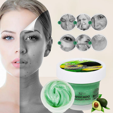 NR Avocados Face Mask Skin Care Remove Mite Treatment Acne Pimples Blackhead Whitening Moisturizing Oil Cream Face Mask