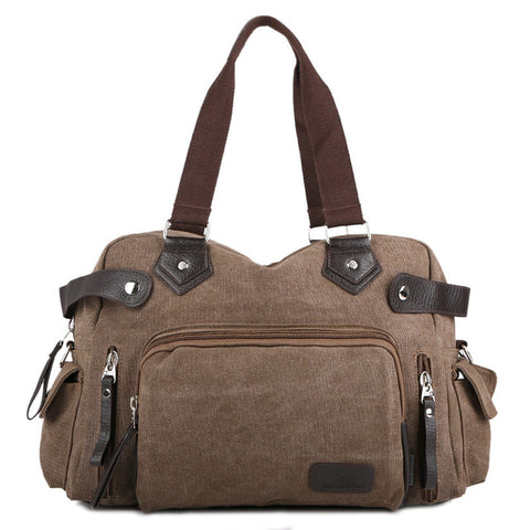 Vintage Large Men Travel Bags Canvas Handbag Casual Tote Bag Retro Men Travel Luggage Shoulder Bag Male Travel Duffel Bags 1046