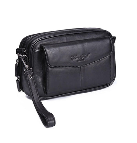 New Men's Vintage Fashion Business Clutch Wrist Bag Luxury Hand Bag Wallet Pouch phone pocket