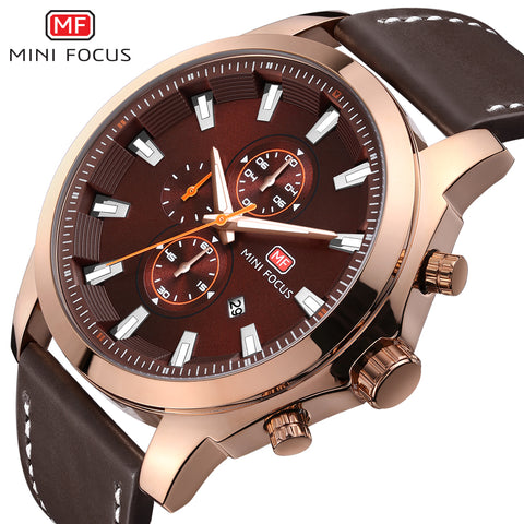 Top Luxury Brand MINIFOCUS Men's Watch Fashion Casual Quartz Wristwatches 24 hour Display Waterproof Clock Man Relogio Masculino