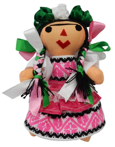 Frida Kahlo Plush Doll Figure
