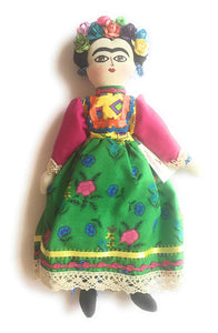 Frida Kahlo Plush Doll Figurine handmade