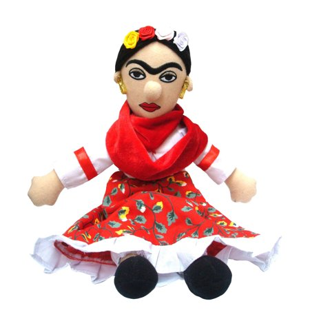 Frida Kahlo Plush Doll figure handmade